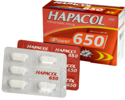 thuốc hapacol 650 giảm đau hạ sốt hiệu quả