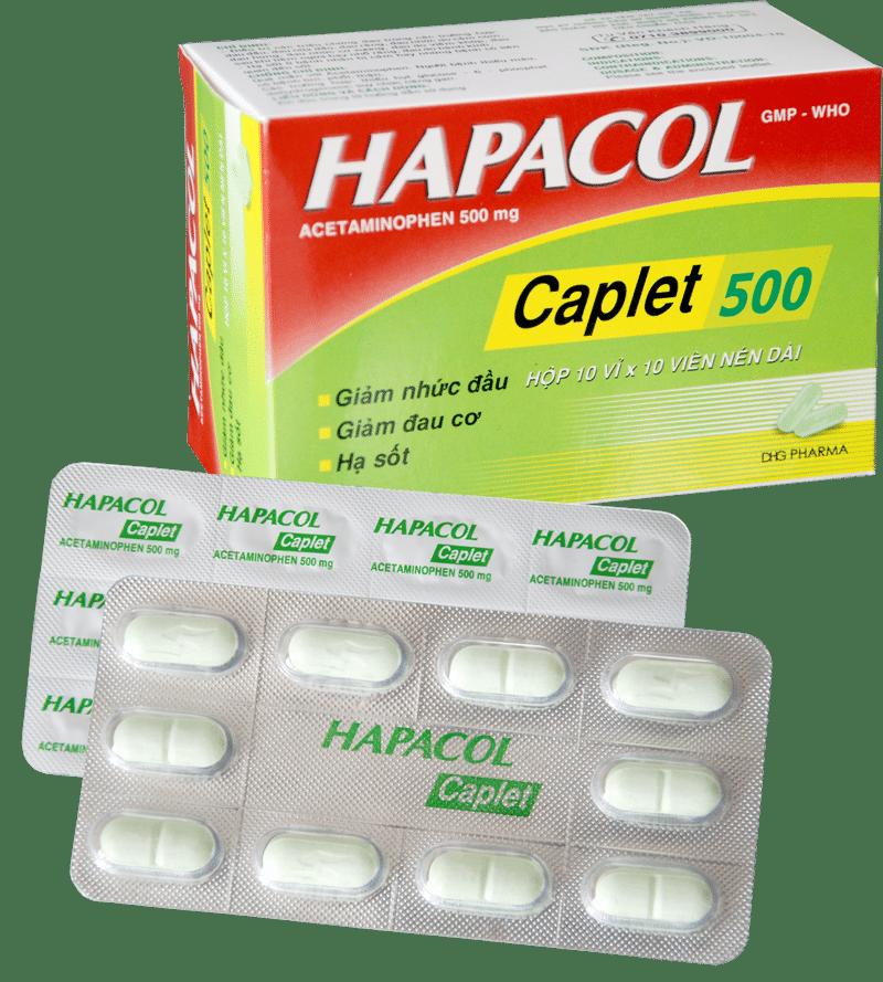 thuốc hapacol caplet