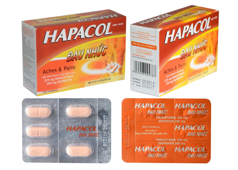thuốc hapacol giảm đau nhức hạ sốt chống viêm