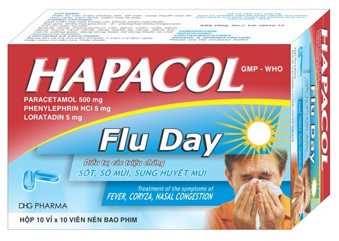 Thuốc hapacol flu day