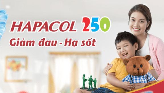 thuốc hapacol 250mg cho trẻ