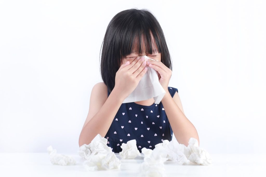 trẻ em dễ bị ốm