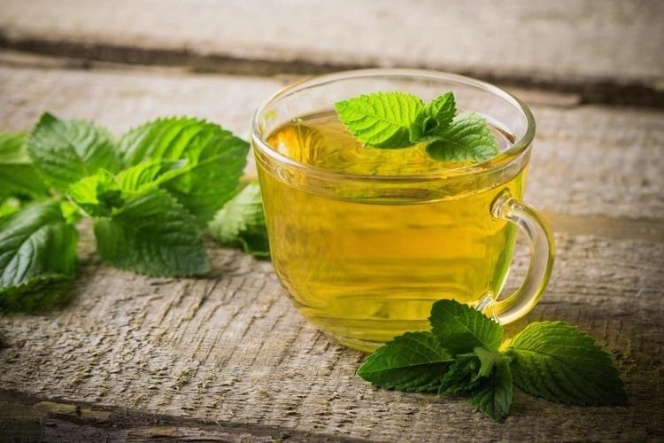 uống trà bạc hà trị đau răng