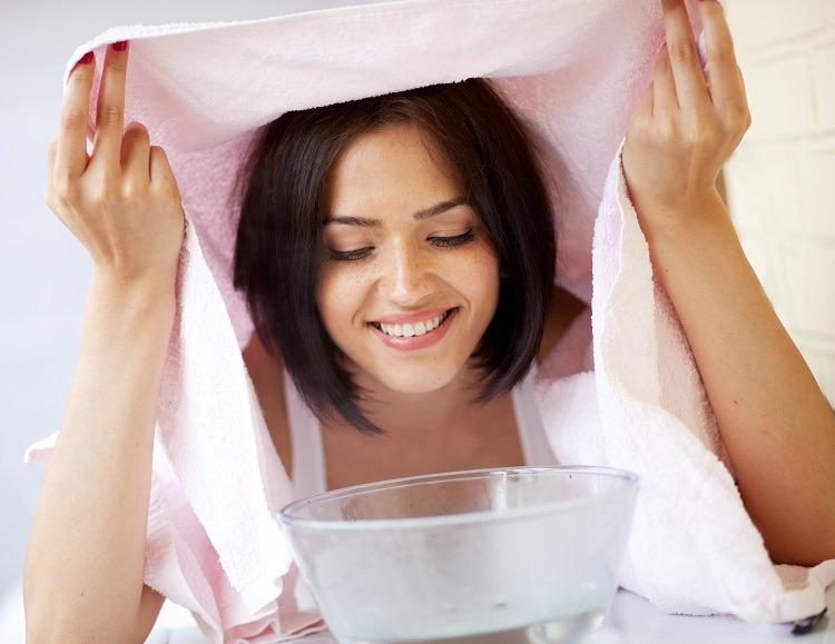 xông mặt giúp giảm chảy nước mũi
