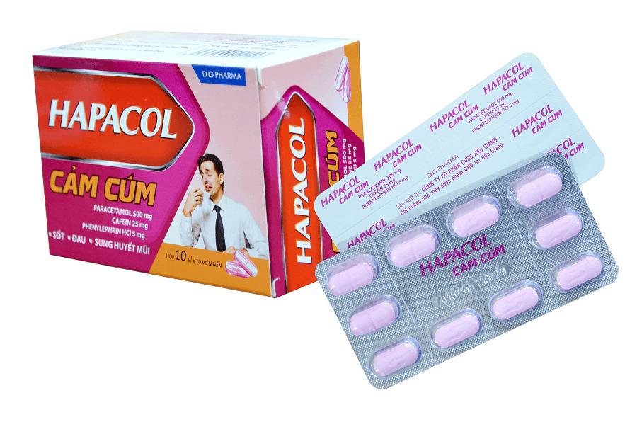 thuốc hapacol cảm cúm