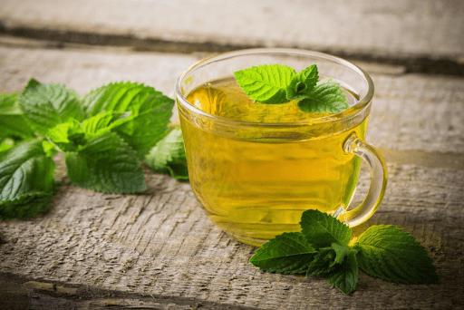 đau họng được chữa lành với trà bạc hà