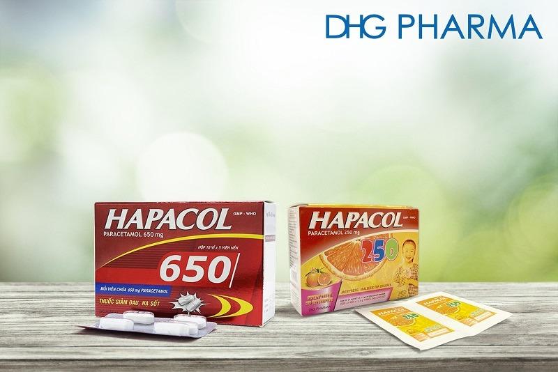 Sản phẩm Hapacol 650 và Hapacol 250 giúp giảm đau hạ sốt và dành cho cả gia đình