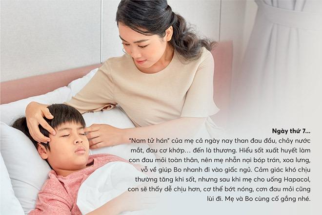 Hapacol giúp giảm các cơn đau mỏi cơ do sốt xuất huyết gây nên