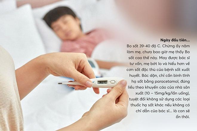 Cần bình tĩnh hạ sốt bằng paracetamol theo đúng liều lượng cho con