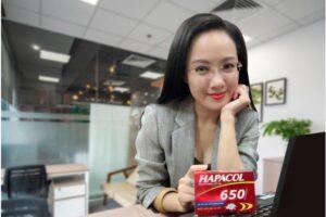 MC Hoài Anh tin dùng Hapacol 650 để giảm đau hạ sốt