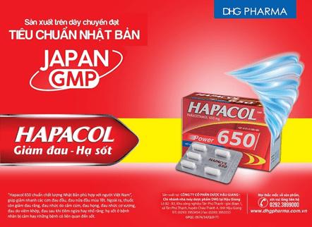 Uống thuốc giảm đau hạ sốt Hapacol khi bị đau cổ, vai gáy