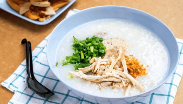 Cháo thức ăn tốt cho người bệnh cảm