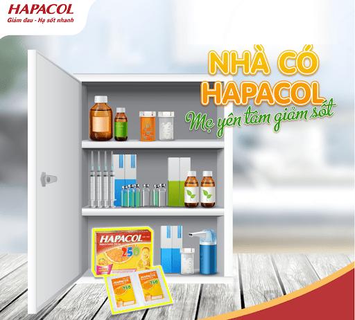 Hapacol 250 là thành phần không thể thiếu trong tủ thuốc trong các gia đình có trẻ nhỏ.