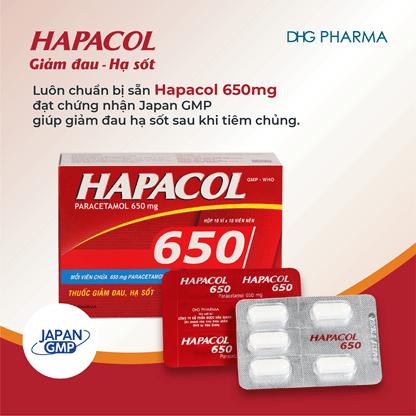 Hapacol là thương hiệu thuốc giảm đau hạ sốt đạt chuẩn quốc tế danh giá JAPAN-GMP