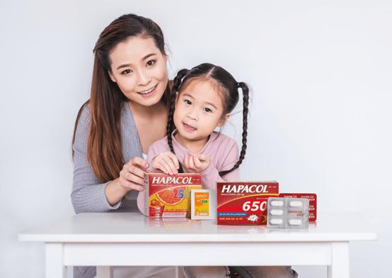 Hapacol sở hữu danh mục sản phẩm khác nhau để điều trị các vấn đề sức khỏe cho cả bố mẹ và bé