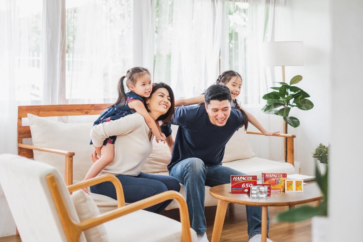 Liều thuốc giảm đau, hạ sốt Hapacol rất đa dạng giúp mẹ dễ dàng lựa chọn