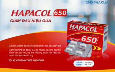 Hapacol 650 giảm đau hiệu quả