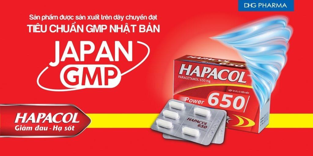 Thuốc giảm đau hạ sốt paracetamol 650 mg (Hapacol)